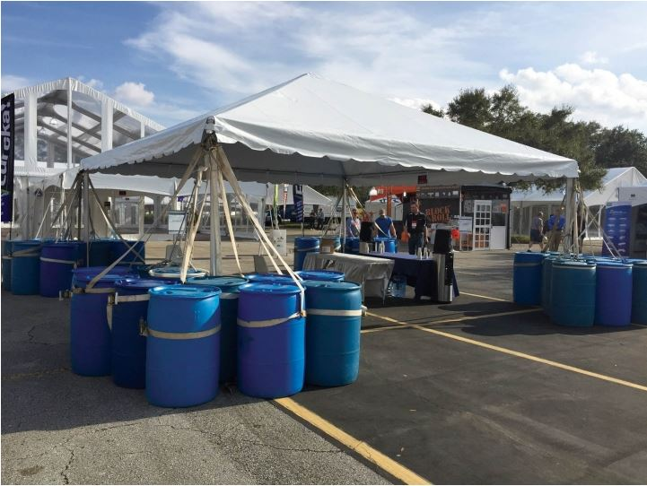 Everything Entertainment Water Barrels As A Tent