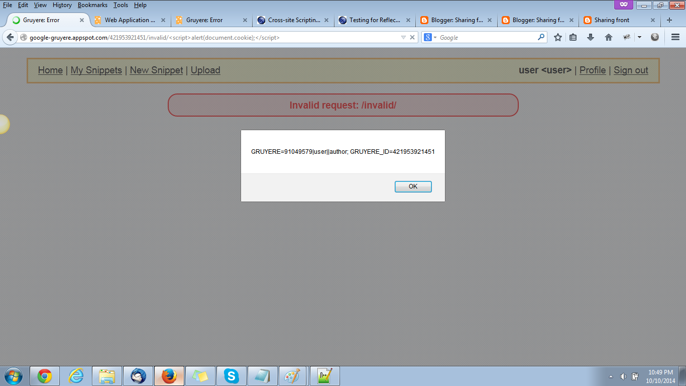Sharing front: Reflected XSS Example