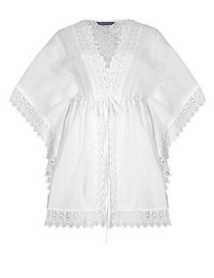 Marks and Spencer Pure Cotton V Neck Kaftan