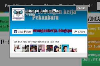 fanpage melayang diblog