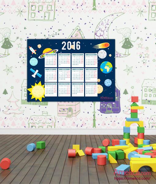 Календарь на 2016 год распечатать, скачать календарь 2016 для взрослых и детей