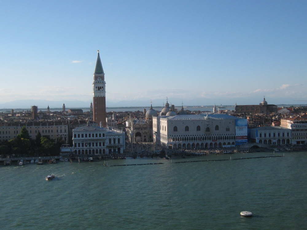 Blick von der Voyager of the Seas auf Venedig