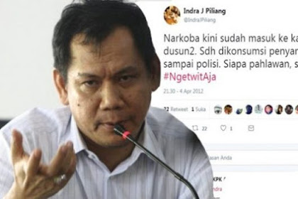 Politisi Golkar Indra J Piliang, Ngetuwitnya Sok Anti Narkoba, Tapi Sendirinya Nyabu, Katanya Supaya Bisa Nulis Novel