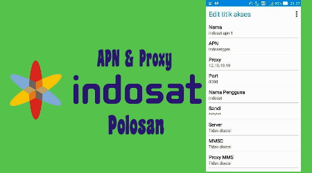 Apn & Proxy Polosan Indosat Internet Gratis Android 2