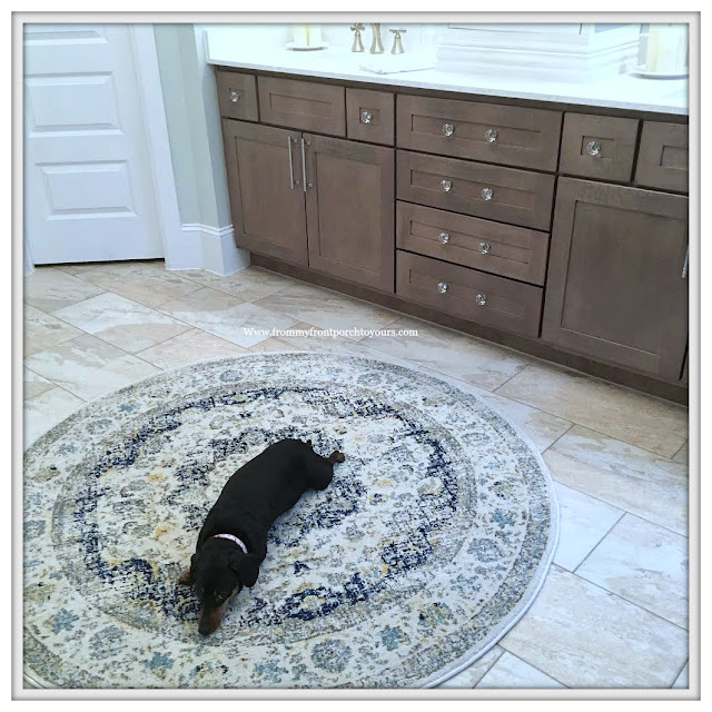 Master Bathroom Makeover-Reveal-Dogs In Decor-Favorite Rug-Cottage Style-French Country-French Farmhouse-DIY-From My Front Porch To Yours