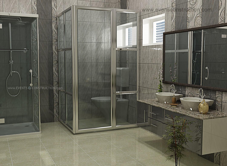 Evens Construction Pvt Ltd: Modern bathroom interior