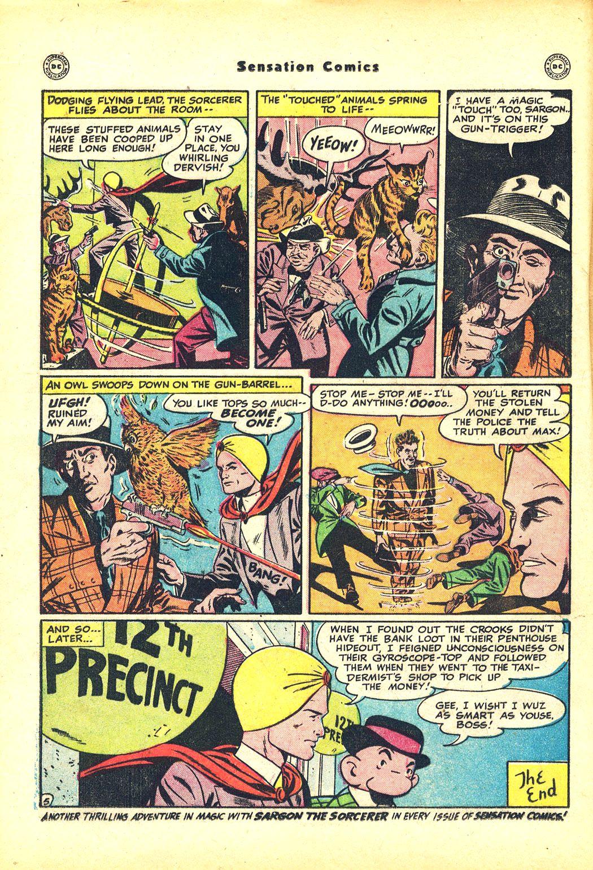 Read online Sensation (Mystery) Comics comic -  Issue #81 - 28