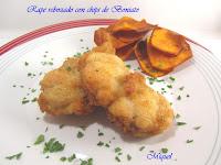 Rape rebozado y chips de Boniato