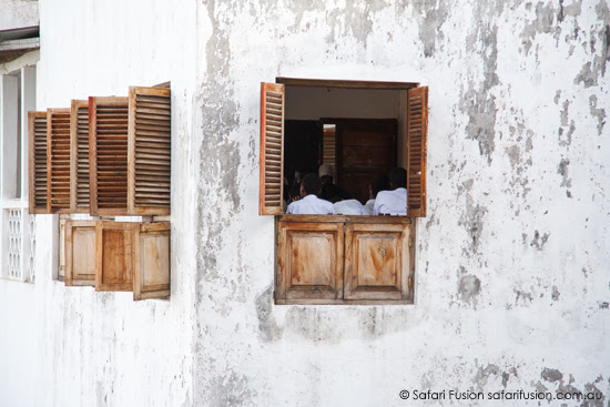 Safari Fusion blog | Africa wrap up | part 1 | The laneways of Zanzibar Old Stone Town | Schools in © Kellie Shearwood