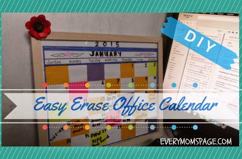#DIY: Easy Erase Calendar Using Photo Frame