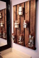 decoracion para baño con hecho pallets de madera desarmados
