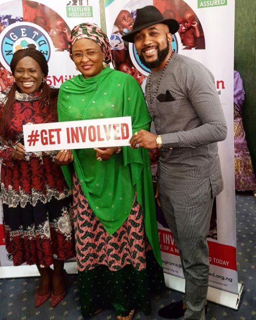 Banky W spotted with Zahra Buhari at #GetInvolved