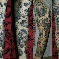 tatuajes blanco y negro de los simpson