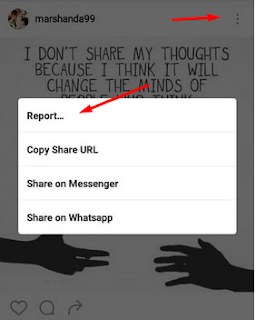 cara melaporkan akun instagram seseorang
