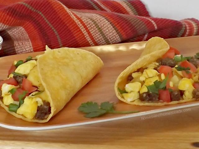 Home Sweet Homestead - #FoodnFlix - Breakfast Tacos