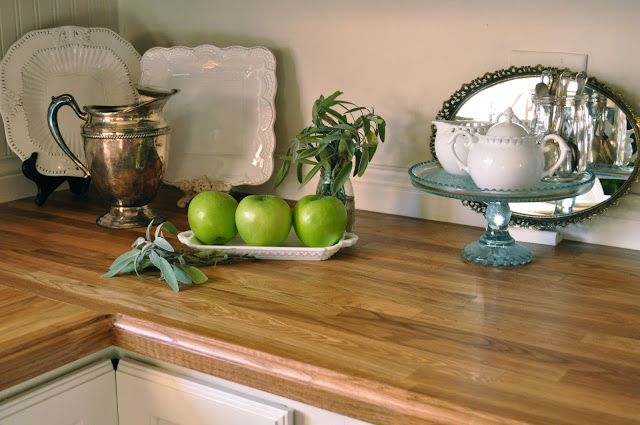 Jennifer Rizzo's butcher block counters