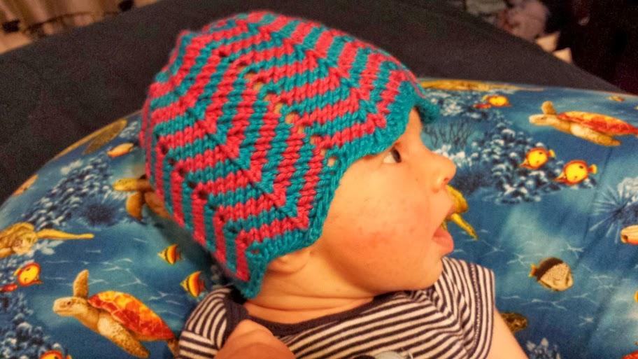 e252a4f27fa ChemKnits  Chevron Baby Hat Knitting Pattern
