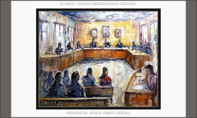 JUICIOS-JUZGADOS-PINTURA-ARTE-PINTURAS-JUECES-ABOGADOS-JUTJATS-MANRESA-CUADROS-ARTISTA-PINTOR-ERNEST DESCALS--