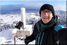 Montemayor mendiaren gailurra 734 m. -- 2018ko otsailaren 2an