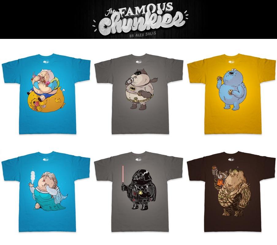 "eeebde33 ""The Famous Chunkies"" Pop Culture T-Shirt Series by Alex Solis x Threadless  · """