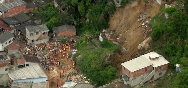 Sobe para 14 o número de mortos em deslizamento em Niterói(RJ)
