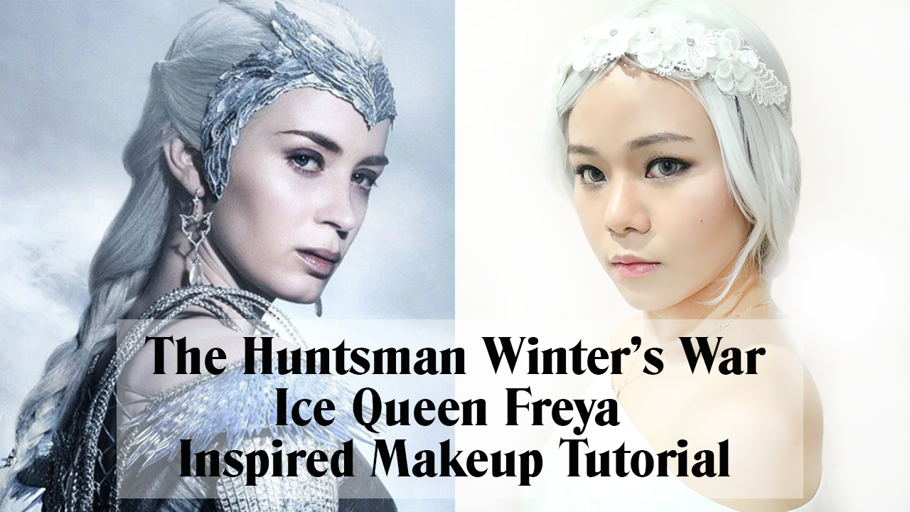 the huntsman, winters war, the huntsman winters war, ice queen, ice queen freya, makeup, makeup tutorial, ice queen freya makeup, jean milka makeup, jeanmilka, jeanmilka