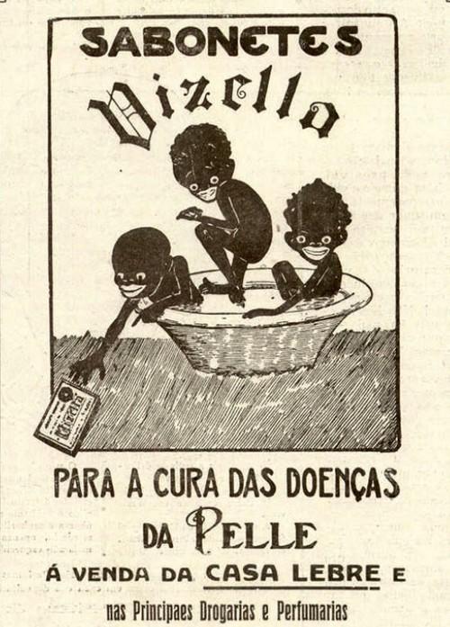 Propaganda antiga do Sabonete Vizella com promessa de cura de doenças da pele