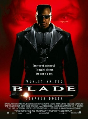 Poster Of Blade 1998 720p Hindi BRRip Dual Audio Full Movie Download