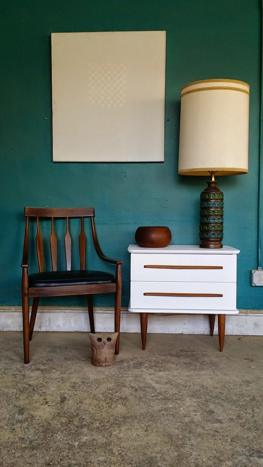 Vintage Ground: Awesome White Mid Century Nightstand Side ...