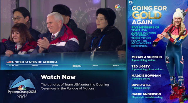 PyeongChang 2018 Winter Olympics Opening Ceremony Mike Karen pence clapping audience Team USA