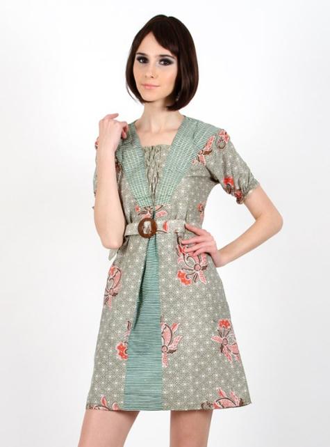 Dress Batik Kombinasi Model Terbaru Fashion Terkini