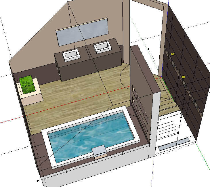 Bricolage de l 39 id e la r alisation salle de bain for Chambre 9m2 sous pente