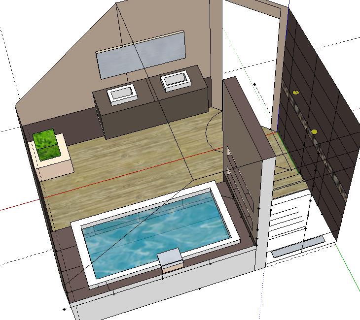 Bricolage de l 39 id e la r alisation salle de bain for Salle de bain 6m2 douche baignoire