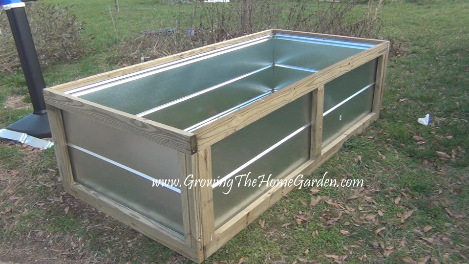 Making A Raised Bed From Metal Roofing Materials