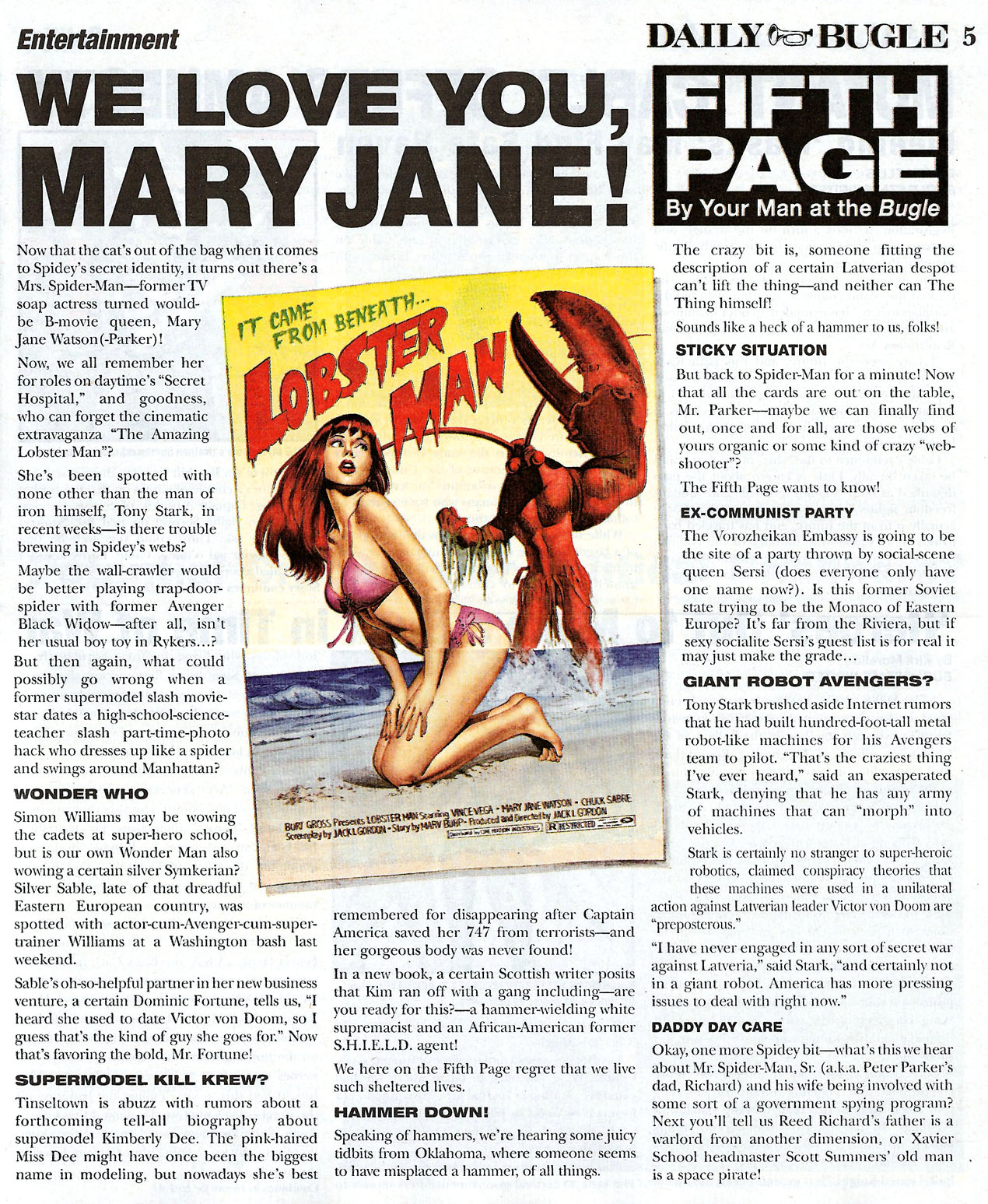 Read online Daily Bugle (2006) comic -  Issue #0 - 5