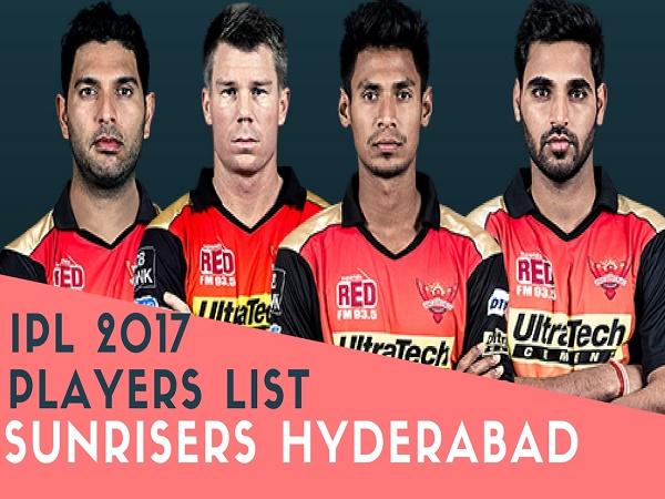 SRH Team 2017 Players List: Sunrisers Hyderabad Team Squad 2017