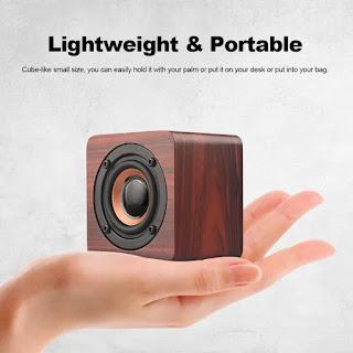 Q1 mini speaker de madeira portátil com bluetooth