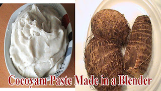 make Cocoyam Paste (Ede Ofe) Without a Mortar