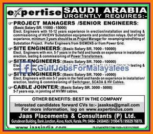 Expertise Saudi Arabia Job Vacancies Gulf Jobs For