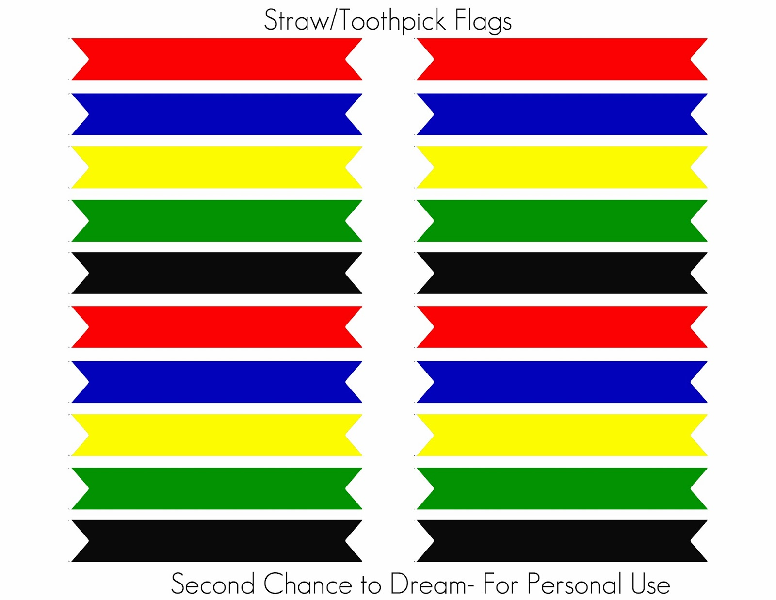 Second Chance To Dream Olympic Party Printables