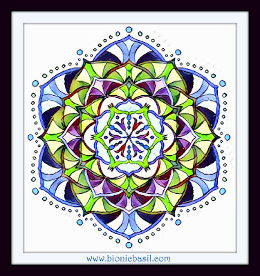 Colouring With Cats  Mandala #86 ©BionicBasil®  Coloured by Cathrine Garnell 28-4-19