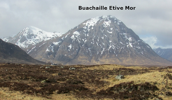 Buachaille Etive Mor covered in snow