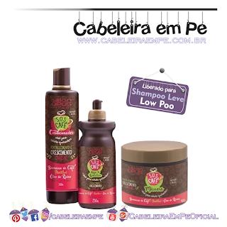 Produtos liberados da linha SOS Café - Salon Opus (Condicionador, Máscara e Creme para Pentear liberados para Low Poo)