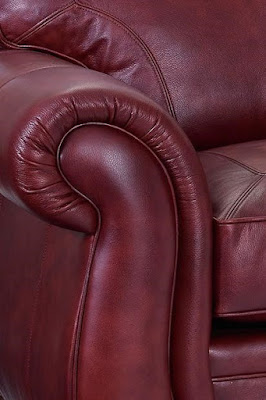 Red Leather Convertible Couch at Baer's Furniture