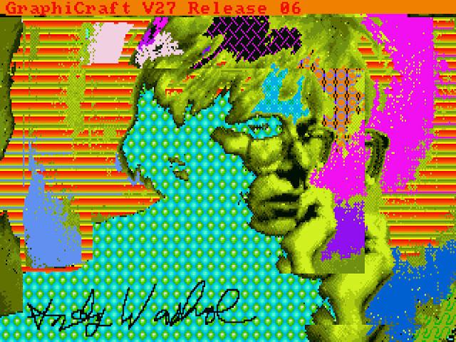 Immagini digitali realizzate da Andy Warhol su pc Amiga 1000