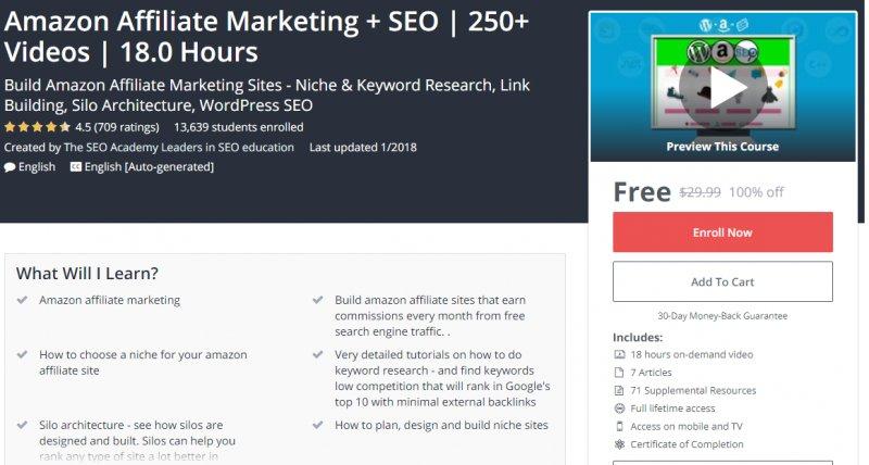 100% Off] Amazon Affiliate Marketing + SEO | 250+ Videos | 18 0