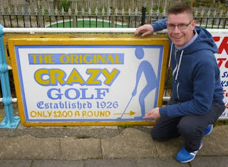 Sign for The Original Crazy Golf course on South Parade in Skegness