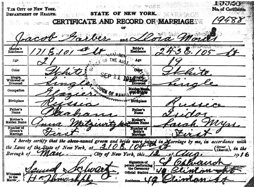 marriage certificate records nyc yad extra going acquire associated several archives ago