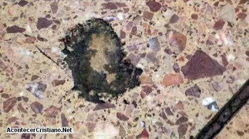 La imagen de Jesucristo en el piso