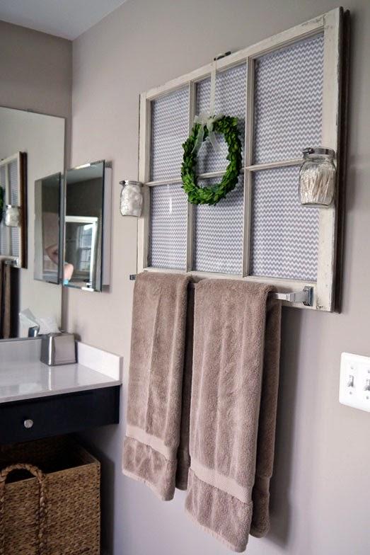 Bathroom Towel Rack Decorating Ideas